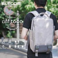 ELECOM新款电脑男女双肩大容量背包苹果笔记本多功能商务旅行包15.6英寸时尚电脑包BM-OF02