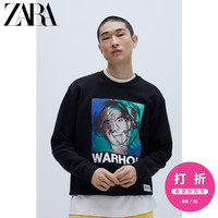 ZARA【打折】男装ANDYWARHOL系列宽松卫衣运动衫00495404800