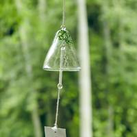 玩物志日式手工琉璃风铃和风铃铛庭院民宿装饰随风旋转声音清脆