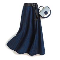 20冬季新款柔软舒适女式裙子时尚优雅星空花纱系带半身裙女