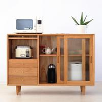 北欧实木餐边柜简约现代日式收纳柜闪电客玻璃茶水柜玄关柜储物柜碗柜