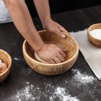 和面盆揉面盆不粘面发面盆活面盆日式大木盆和面的盆子沙拉盆饭盆