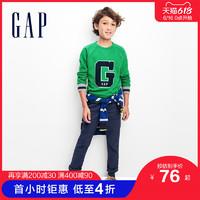 Gap男童柔软中腰卡其裤春季234818童装裤子弹力直筒儿童