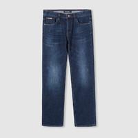 时尚休闲长裤2021秋季新品舒适直筒微弹青年男士牛仔裤