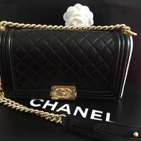 """如何给女友送""""礼物"""" 篇三:Chanel 香奈儿 羊皮leboy 中号金链菱格纹包 开箱"""