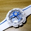 #晒单大赛#时尚街头—Swatch 斯沃琪 Ladies Watch Chrono Plastic 2 Street Map Azure SUIW412 手表