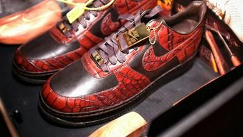 #首晒#最贵的Nike!Berluti代工 Nike 耐克 25周年Air Force 1 鳄鱼皮/蟒蛇皮 运动鞋 晒单