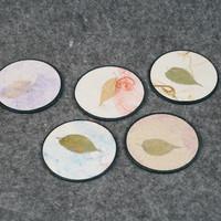 杯中锦瑟,杯底四季:Ishikawa 美浓和纸 茶托5件套