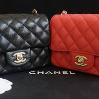这小胖子有点贵:Chanel 香奈儿 Chanel Classic Mini Square Flap Bag 方胖子 Mini