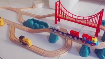 二胎囤货记录 篇十四:除火车头外都值得买的米兔轨道积木电动火车套装(附电机更换介绍)