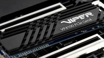 2GB超大缓存、5000MB/s读取:Patriot 博帝 发布 VP4100 PCIe4.0固态硬盘