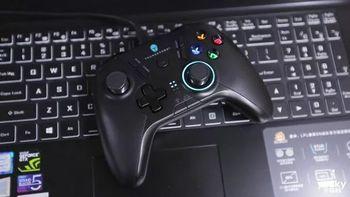 雷神TC-G50游戏手柄外观展示(适配器|电池|延长线|屏蔽环|控制器)