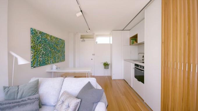 不到 30㎡ 公寓改造,隔墙这么设计小家瞬间高大上!