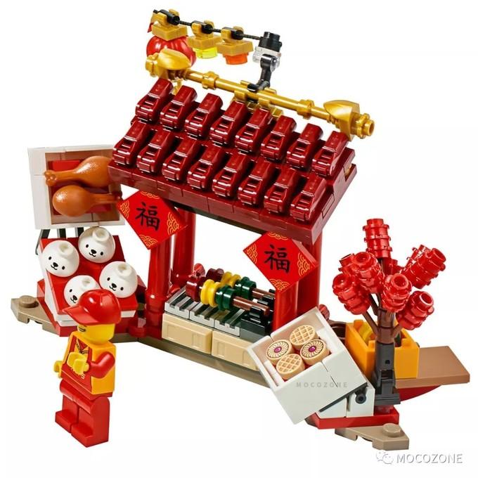 乐高中国新年节庆新品80104舞狮80105庙会正式公布!