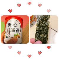 美味酥脆充能零食—藤壶岛芝麻夹心海苔脆(巴旦木口味,40克罐装)