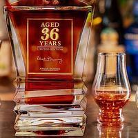 """又添新的""""镇桌之宝"""",全球限量1200瓶的 Angus Dundee 36年 水晶樽威士忌礼盒"""