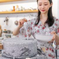 【视频】为了做碗手磨肠粉,我买了个66斤的石磨……