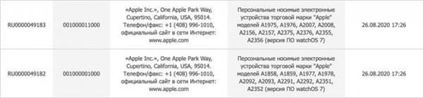 苹果注册8款新Apple Watch和7款新iPad型号