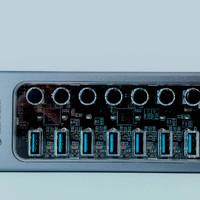 十八聊电脑 篇十一:工业级性能+消费级颜值,奥睿科工业级USB3.0集线器评测: