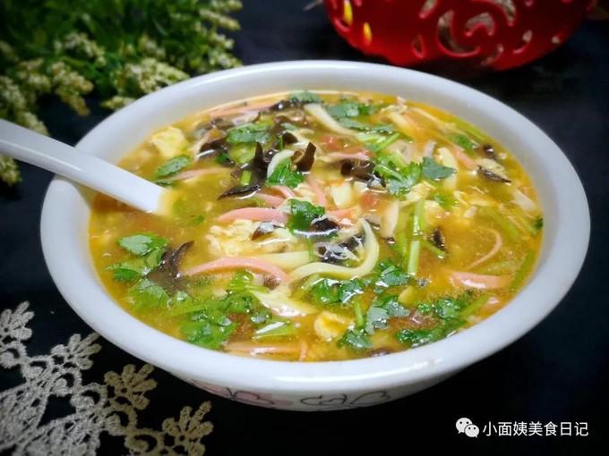 天凉了,就得来一碗酸辣汤,暖胃发汗助消化,从头到脚都暖暖的!