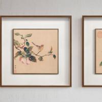 博物馆名画复刻,实木双层框精裱,新中式风格挂画上新