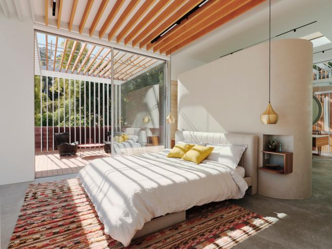 这栋180°全景「玻璃屋」,透明楼梯、网红滑梯,每件家具都是定制款!