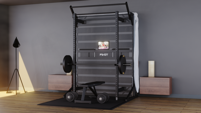 卧室就是健身房:PIVOT Fitness 推出 集合了健身架功能的 PIVOT Bed 复合式床架