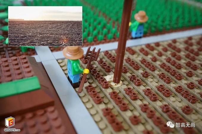 可持续家庭农场积木模型