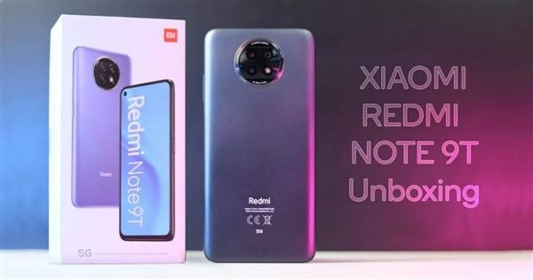 搭载天玑800U处理器:外媒晒Redmi Note 9T的真机照