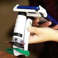 120倍 科學罐頭手持便攜式3合1科學顯微鏡