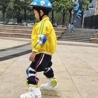 儿童轮滑鞋竞滑体验:小小少年,自信滑行