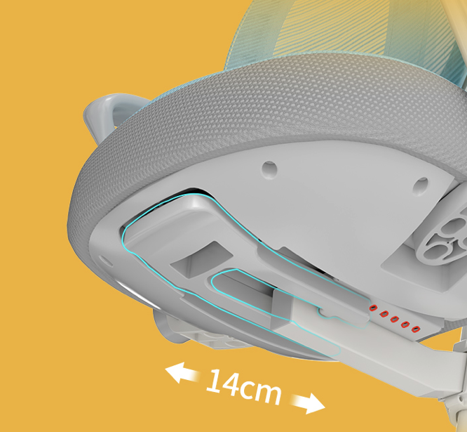 京东京造上新主动追背科技椅,3D高弹网背,升级两用锁轮,可从3岁用到18岁!