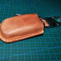 手工皮具新入坑——湿法塑性植鞣革车钥匙壳